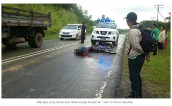 Mangsa yang dipercayai lelaki warga tempatan maut di lokasi kejadian